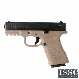 Pistola ISSC M22 WE-Tech GEN-4 Desert/Negro - 6 mm GBB
