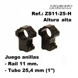 Monturas Zasdar Altura Alta Ø25 mm / rail 9 - 11 mm