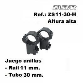 Monturas Zasdar Altura Alta Ø30 mm rail 9-11 mm
