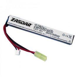 Batería Li-Po ZASDAR 1500 mAh 20C - 1 stick (13 x 21 x 128 mm)