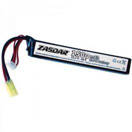Batería Li-Po ZASDAR 11´1 V 1500 mAh 20C - 1 stick (7 x 21 x 126 mm)
