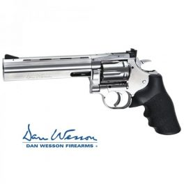 """Revolver Dan Wesson 715 6"""" Silver - 4,5 mm Co2 Bbs Acero"""