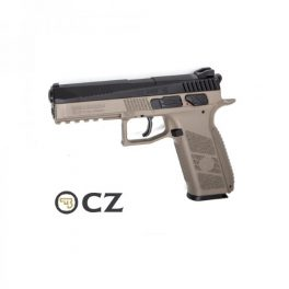 Pistola CZ P-09 Duty FDE Duotone Blowback - 4,5 mm Co2 Balines.