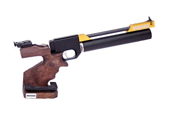 Pistola PCP Tizonni PP700 Cacha Basculante Nogal-Oro