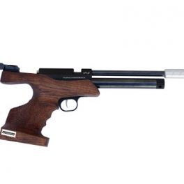 Pistola Co2 Tizonni Cacha Larga Nogal-Negro (Monotiro)