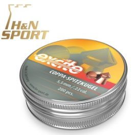 Balines H&N Excite Coppa-Spitzkugel 1´04g lata 200 unid. 5,5mm