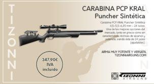 Carabina kral puncher pcp sintética/madera